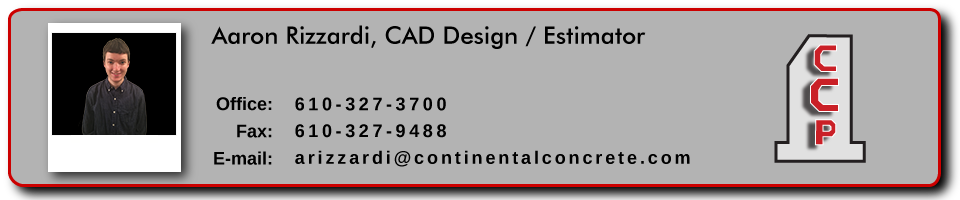 Aaron Rizzardi, CAD Design at Continental Concrete Products, Inc.